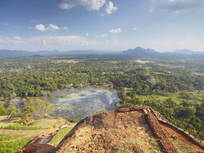 View from Summit of Sigiriya, UNESCO World Heritage Site, North Central Province, Sri Lanka, Asia-Ian Trower-Photographic Print