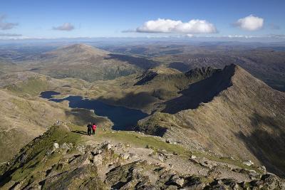 View from Summit of Snowdon to Llyn Llydaw and Y Lliwedd Ridge-Stuart Black-Photographic Print