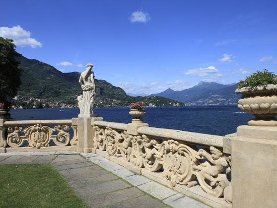 View From Terrace, Lenno, Lake Como, Lombardy, Italy, Europe-Vincenzo Lombardo-Photographic Print