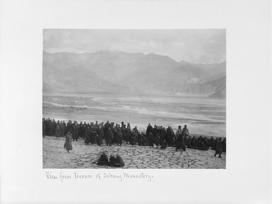 View from Terrace of Debung Monastery, Tibet, 1903-04-John Claude White-Giclee Print