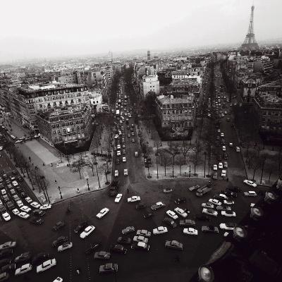 View from the Arc de Triomphe to the Place de l'Etoile, 1960s-Paul Almasy-Art Print