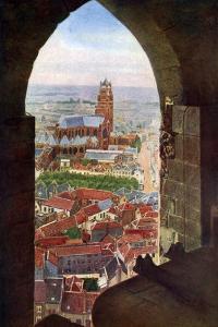 View from the Belfry of Bruges, Belgium, C1924
