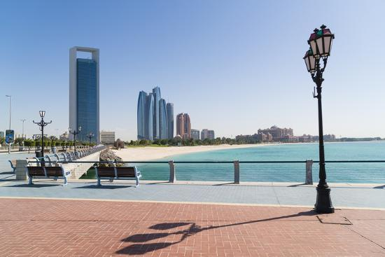 View from the Breakwater Towards Abu Dhabi Oil Company Hq and Etihad Towers, Abu Dhabi-Fraser Hall-Photographic Print