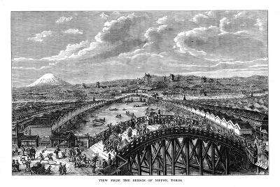 View from the Bridge of Nippon, Tokyo, Japan, 1877--Giclee Print