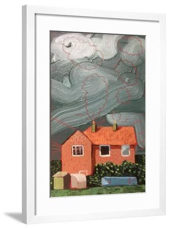 View from the Courtman Rd Allotment-Thomas MacGregor-Framed Giclee Print