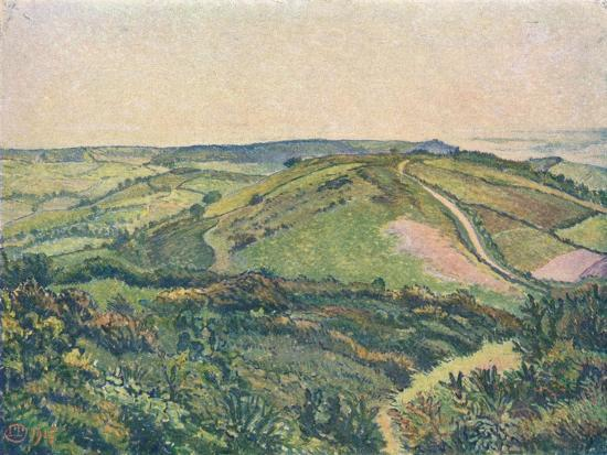 'View from the Hill, Fishpond', c1913-Lucien Pissaro-Giclee Print