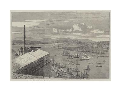 View from the King's Bastion Quebec the Isle of Orleans in the Distance--Giclee Print