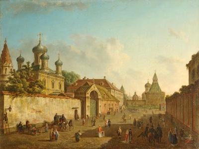 View from the Lubyanka Square to the Vladimir Gate in Moscow, 1800S-Fyodor Yakovlevich Alexeyev-Giclee Print