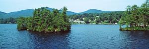 View from the Minne Ha Ha Steamboat, Lake George, New York State, USA