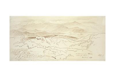 View from the Mountains Above Phonia, 1849 (Pen and Brown Ink with Graphite on Off-White Paper)-Edward Lear-Giclee Print