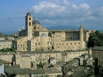 View from the North of the Old Centre of Urbino with the Cathedral Left and Palazzo Ducale Right-Richard Ashworth-Photographic Print