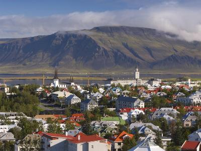 View from the Perlan of Colourful Houses, Reykjavik, Iceland-Gavin Hellier-Photographic Print