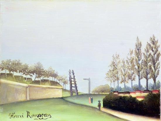 View from the Porte de Vanves, Paris, 1909-Henri Rousseau-Giclee Print