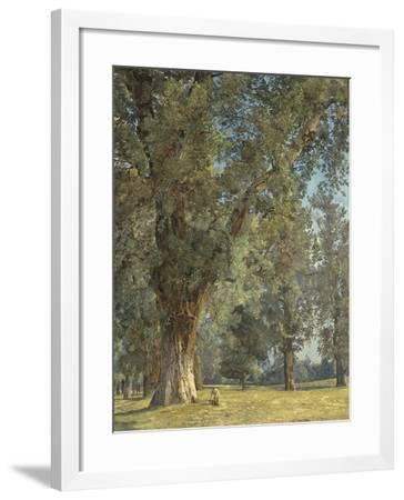 View from the Prater in Vienna (With Tree at Left)-Ferdinand Georg Waldm?ller-Framed Giclee Print