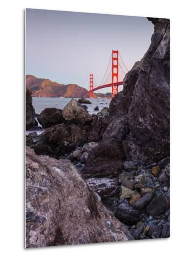View From The Rocks , Golden Gate Bridge, San Francisco-Vincent James-Metal Print