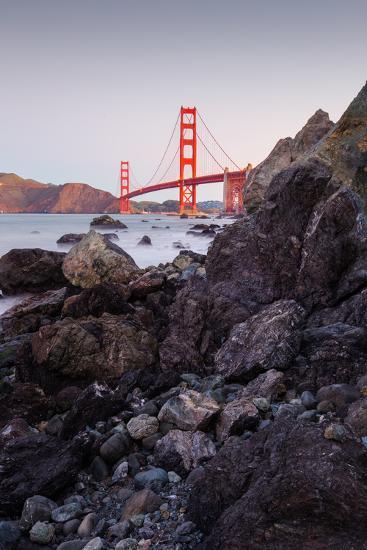 View From The Rocks II, Golden Gate Bridge, San Francisco-Vincent James-Photographic Print