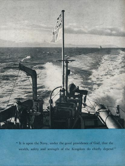 View from the stern of a British warship, c1940 (1943)-Unknown-Photographic Print