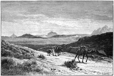 View from the Tellat Pass, Tunisia, C1890-Eugene-Alexis Giradet-Giclee Print