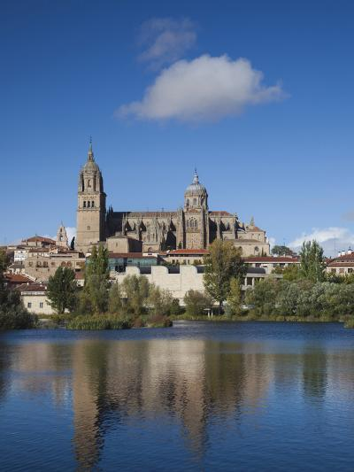 View from the Tormes River, Salamanca, Spain-Walter Bibikow-Photographic Print