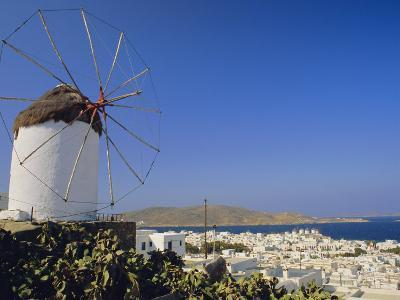 View from the Upper Windmills to Mykonos Town, Mykonos, Cyclades Islands, Greece-Fraser Hall-Photographic Print