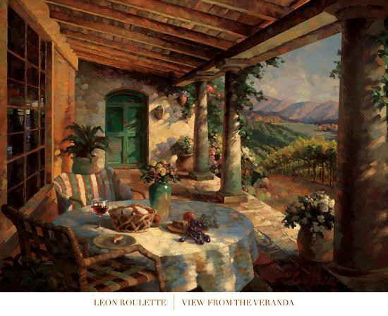 View from the Veranda-Leon Roulette-Art Print