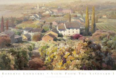 View From the Vineyard I-Roberto Lombardi-Art Print