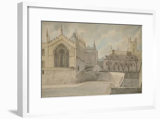 View from the Warden's Lodgings-John Baptist Malchair-Framed Giclee Print