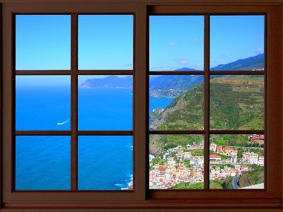 View from the Window at Cinque Terre-Anna Siena-Giclee Print