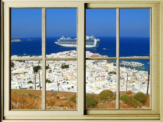 View from the Window at Mykonos Island 1-Anna Siena-Giclee Print
