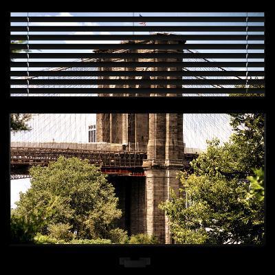 View from the Window - Brooklyn Bridge-Philippe Hugonnard-Photographic Print