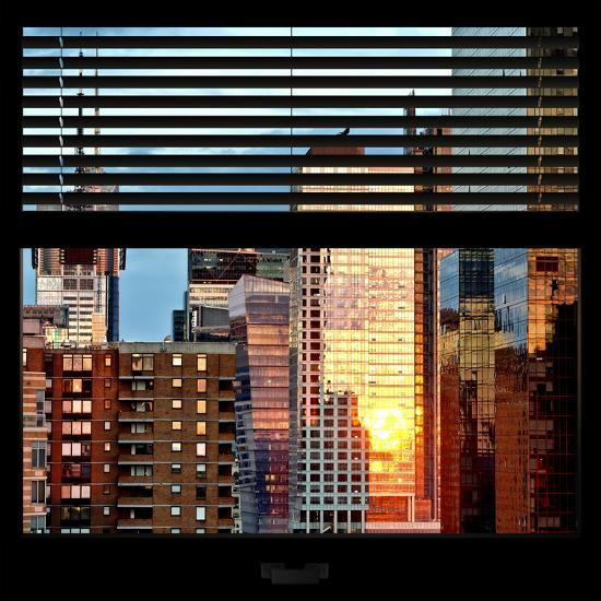 View from the Window - Buildings Sunset - Manhattan-Philippe Hugonnard-Photographic Print