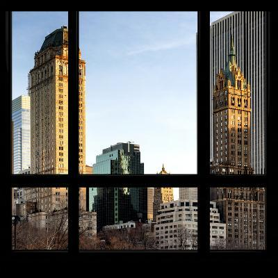 View from the Window - Central Park Buildings at Sunset-Philippe Hugonnard-Photographic Print