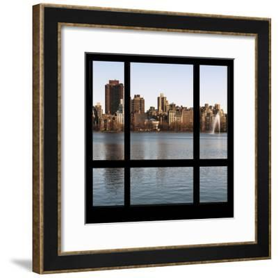 View from the Window - Central Park in Autumn-Philippe Hugonnard-Framed Photographic Print