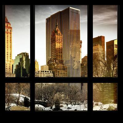 View from the Window - Central Park in Winter-Philippe Hugonnard-Photographic Print