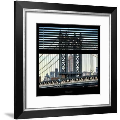 View from the Window - Empire State Building and Manhattan Bridge-Philippe Hugonnard-Framed Photographic Print