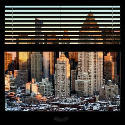 View from the Window - Hell's Kitchen at Sunset - Manhattan-Philippe Hugonnard-Photographic Print