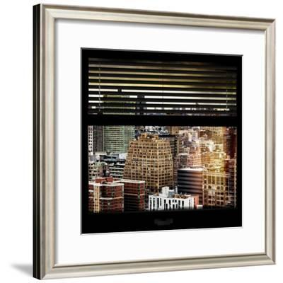 View from the Window - Hell's Kitchen - NYC-Philippe Hugonnard-Framed Photographic Print