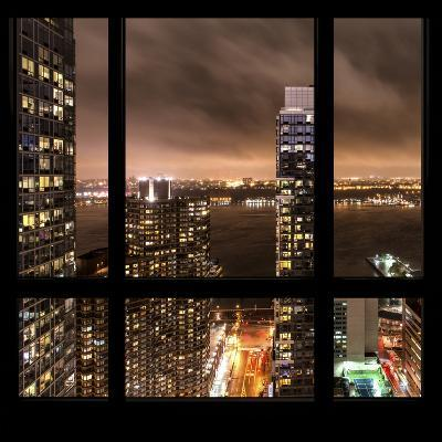 View from the Window - Hudson River New York-Philippe Hugonnard-Photographic Print