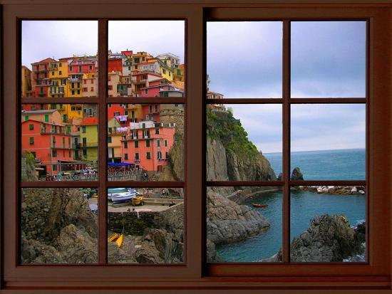 View from the Window Manarola at Cinque Terre-Anna Siena-Giclee Print