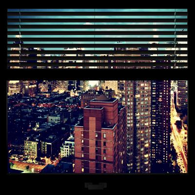 View from the Window - Manhattan Night-Philippe Hugonnard-Photographic Print