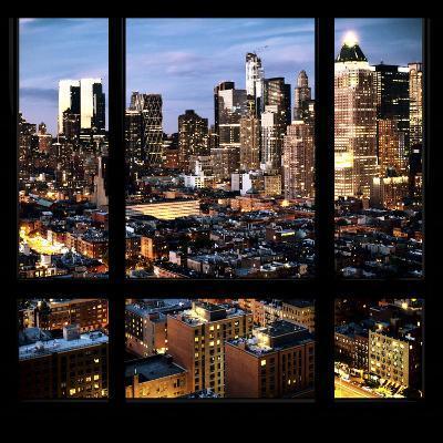 View from the Window - Manhattan Night-Philippe Hugonnard-Photographic Print