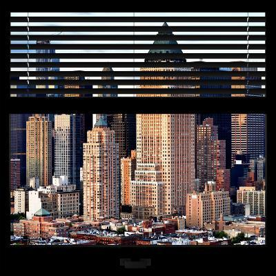 View from the Window - Manhattan Skyscrapers-Philippe Hugonnard-Photographic Print