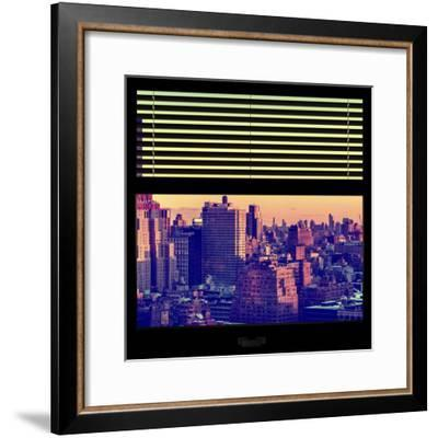 View from the Window - Manhattan Sunset-Philippe Hugonnard-Framed Photographic Print