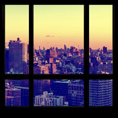 View from the Window - Manhattan Sunset-Philippe Hugonnard-Photographic Print