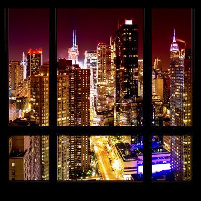 View from the Window - Midtown Manhattan Night-Philippe Hugonnard-Photographic Print
