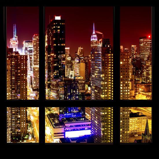 View From The Window Midtown Manhattan Night Photographic Print Philippe Hugonnard Art Com