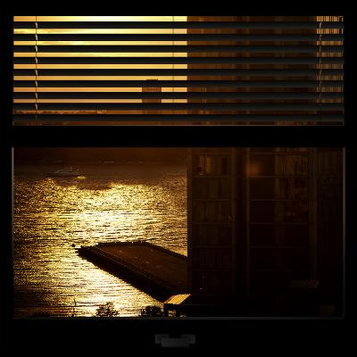 View from the Window - New York Building Sunset-Philippe Hugonnard-Photographic Print