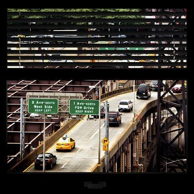 View from the Window - New York Traffic-Philippe Hugonnard-Photographic Print
