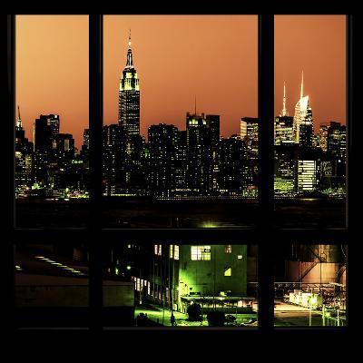 View from the Window - Night Skyline - New York City-Philippe Hugonnard-Photographic Print