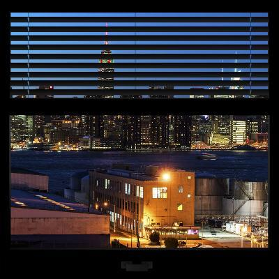 View from the Window - Night Skyline - New York City-Philippe Hugonnard-Photographic Print